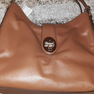 Light brown coach bag